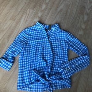 NWT J Crew button down tie up shirt